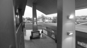 The Community Field Concourse in black & white