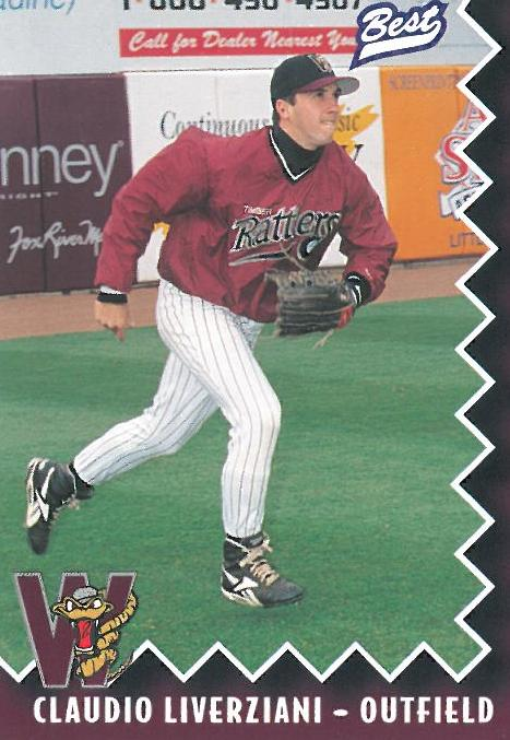 Claudio Liverziani's 1997 Timber Rattlers baseball card