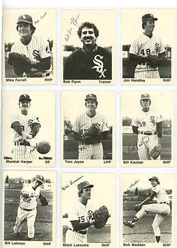 Nine cards featuring players from the 1976 Foxes.