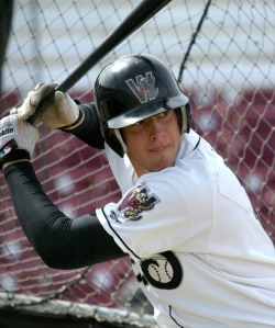 Alex Liddi as a Timber Rattler in 2008.