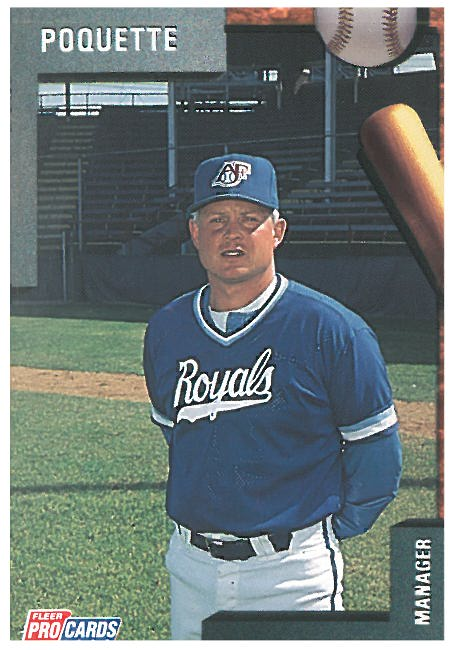 Tom Poquette, the manager of the Foxes in 1992.