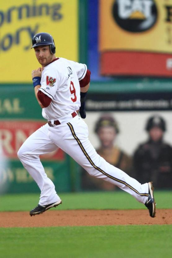 Jonathan Lucroy in last night's game. [PHOTO CREDIT: Ann Mollica/Wisconsin Timber Rattlers]