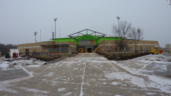It was a cold, gray, windy day on January 23.  But, work continues.