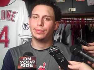 Asdrubal Cabrera is way more excited to be playing for Leones del Caracas than he was in this photograph.