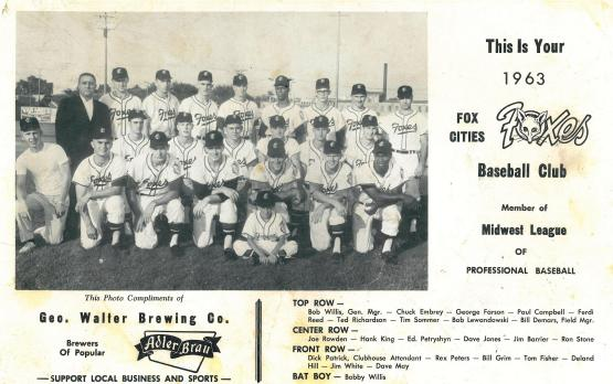 The Foxes were an affiliate of the Baltimore Orioles at the time.