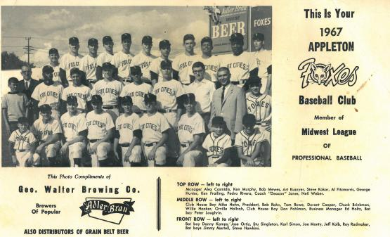 The Foxes were affiliated with the Chicago White Sox in 1967.