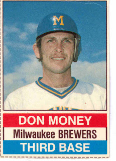 Don Money's 1976 card from Hostess Snacks.