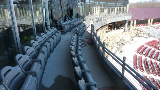 The club seats are installed!  The Club seats are installed!