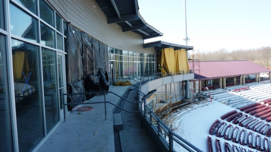 A look at the outside seating for the club level.