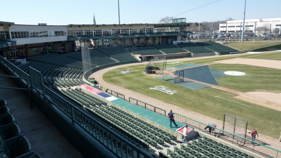 Peoria Chiefs Stadium with the calm before the start of the season.