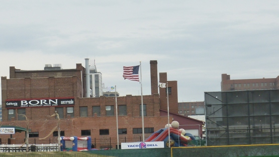 The wind was howling out to left. No homers and not a slugfest.