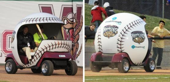 It's a bullpen cart. We have a bullpen cart now.  Bullpen carts are cool.