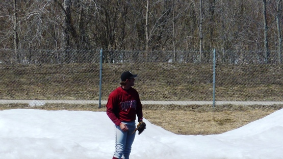 I doubt that Preston Gainey has had snowbanks for a backdrop when he's thrown before today.