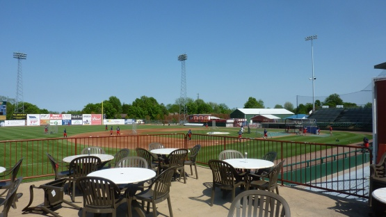 A view from the porch atop the third base concessions stand at Community Field.