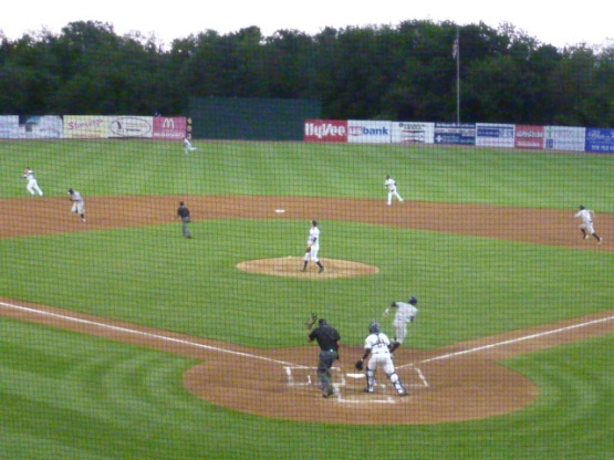 Alfredo Rodriguez singles to left with two outs in the top of the second.