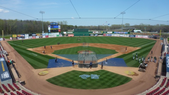 Batting practice before game one of Wednesday's doubleheader.