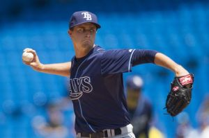 Jake Odorizzi pitches against the Toronto Blue Jays on May 20, 2013. (AP Photo/The Canadian Press, Chris Young)