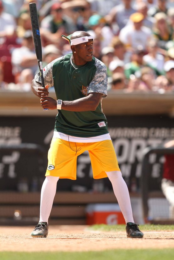 Donald Driver at the bat.