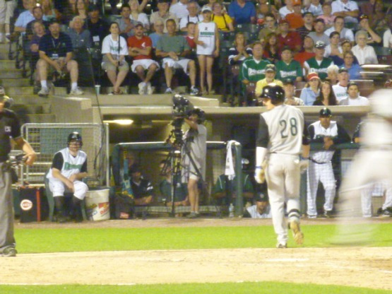 That blur scored the tying run in the top of the ninth on Tuesday.