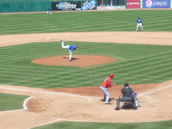Jorge Lopez makes a pitch in Sunday's game.