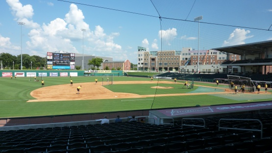 Bowling Green Ballpark before Wednesday's game.