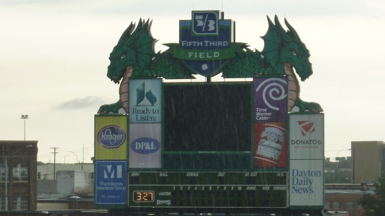Pay no attention to the rain. I have been assured that there will be baseball tonight in Dayton,