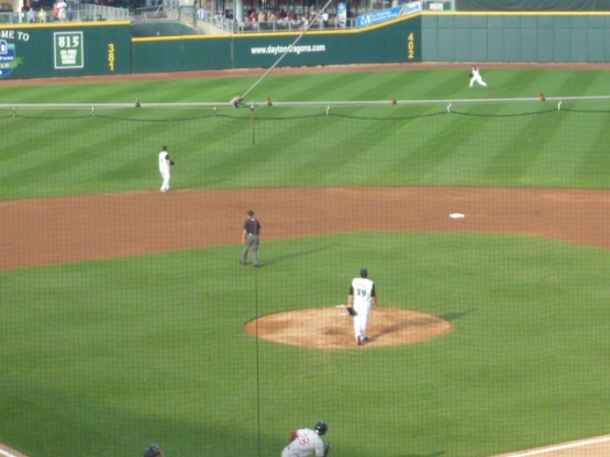 I need to start bringing a photographer on these road trips.  This could have been an awesome shot of HR #1 for Roache.