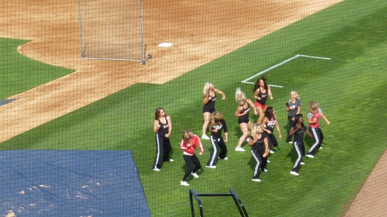 Oh, and the Milwaukee Bucks Dancers are here tonight, too.