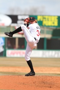 Tyler Wagner set a lot of Individual highs for the Timber Rattlers pitchers this season.