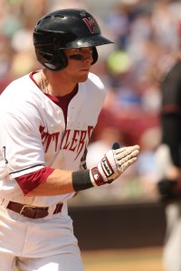 Michael Reed tied a MWL record with three triples in a game.