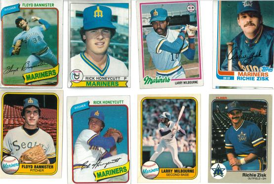 The Richie Zisk card on the top row was improperly cut at the TOPPS factory. I want a new one.