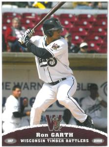 Ron Garth's 2008 Timber Rattlers card.