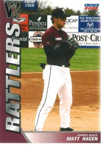 Matt Hagen hit 21 home runs in 2003 to tie the franchise record for taters in a single season.