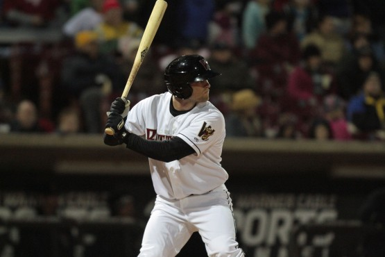 Mitch Haniger with the Timber Rattlers in 2013. (Photo Credit: Ann Mollica)