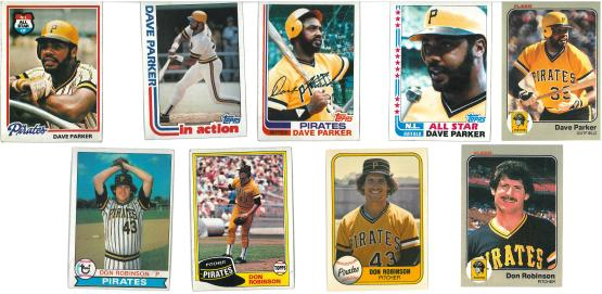 Those first two Don Robinson cards. No. Seriously.  That's what the Pirates wore!