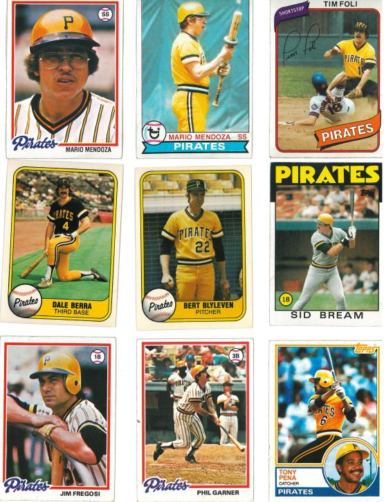And two more Mario Mendoza cards.