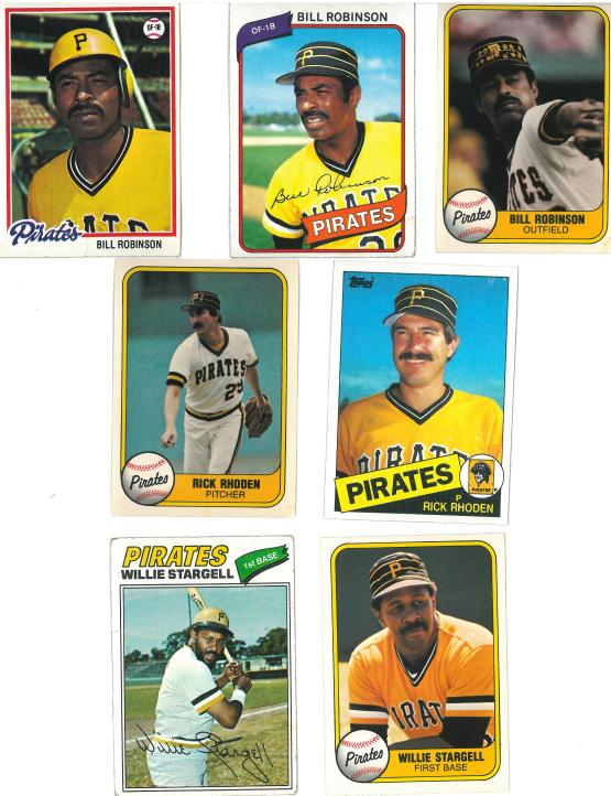It angers me that - in all the years of collecting cards - I only picked up two Willy Stargell cards.