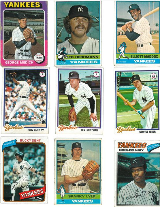 "The George ""Doc"" Medich card is fro 1975.  The back notes that he started 38 games and tossed 17 complete games in 1974."