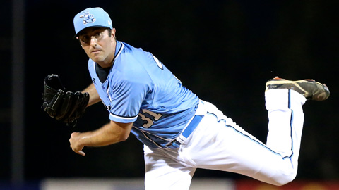 Craig Anderson picked up the win for the Sydney Blue Sox in the Australia Baseball League over the weekend. (Joe Vella -SMP Images/ABL Media)