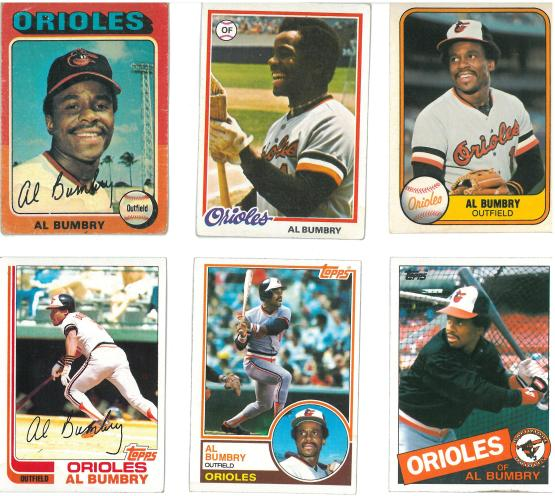 A guy could do a lot worse than having a bunch of Al Bumbry cards.