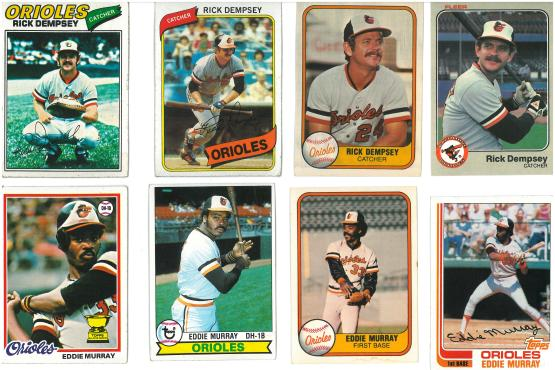 Eddie Murray is actually smiling in that 1981 Fleer card.