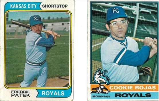 The Royals double play combination from 197 -