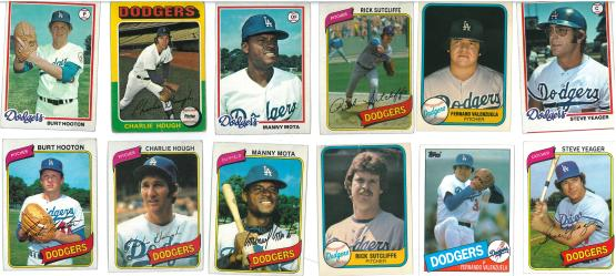 I had a lot of 1980 Dodgers cards....apparently.
