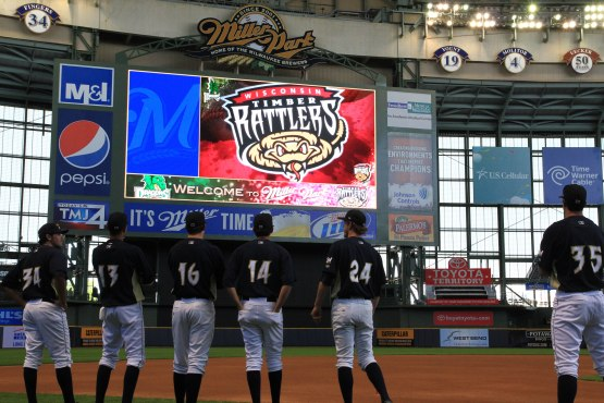 Numbers are in the Timber Rattlers font.