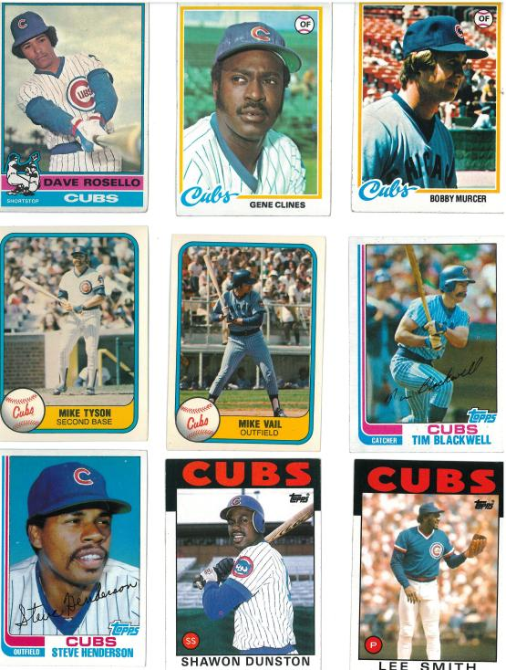 A Bobby Murcer card where I didn't cross out the team name to put him on the Cubs!