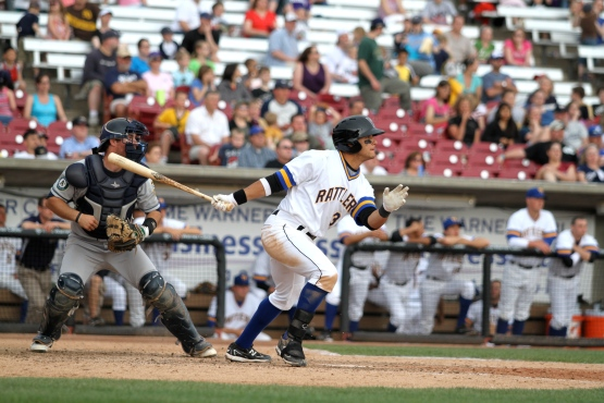 Chris Dennis as a Timber Rattler in 2011.