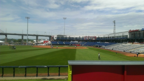 The view from the Dippin' Dots stand.