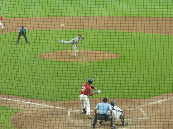 Mendoza flew out to right for the final out of the sixth on this pitch.