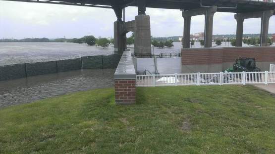 The flood control walls are doing the job they were designed to do.