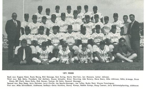 Birthday boy Bucky Dent is located in the second row, second from the right.